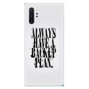 Silikonové odolné pouzdro iSaprio Backup Plan na mobil Samsung Galaxy Note 10 Plus