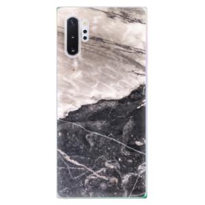 Silikonové odolné pouzdro iSaprio BW Marble na mobil Samsung Galaxy Note 10 Plus