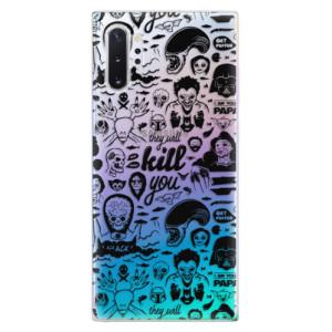 Silikonové odolné pouzdro iSaprio Comics 01 black na mobil Samsung Galaxy Note 10 Plus