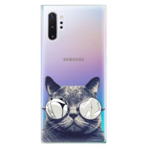 Silikonové odolné pouzdro iSaprio Crazy Cat 01 na mobil Samsung Galaxy Note 10 Plus