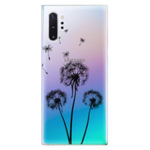 Silikonové odolné pouzdro iSaprio Three Dandelions black na mobil Samsung Galaxy Note 10 Plus