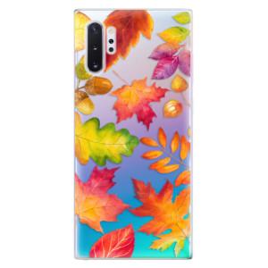 Silikonové odolné pouzdro iSaprio Autumn Leaves 01 na mobil Samsung Galaxy Note 10 Plus