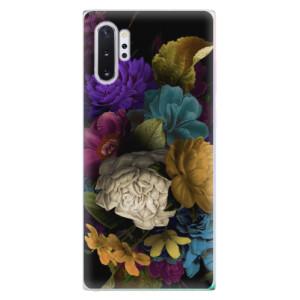 Silikonové odolné pouzdro iSaprio Dark Flowers na mobil Samsung Galaxy Note 10 Plus