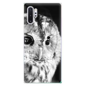 Silikonové odolné pouzdro iSaprio BW Owl na mobil Samsung Galaxy Note 10 Plus