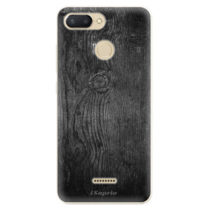 Silikonové odolné pouzdro iSaprio Black Wood 13 na mobil Xiaomi Redmi 6