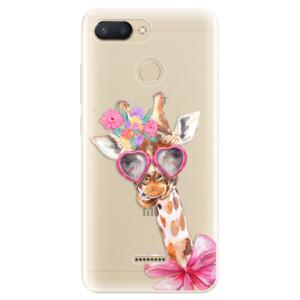 Silikonové pouzdro (mléčně zakalené) iSaprio Lady Giraffe na mobil Xiaomi Redmi 6