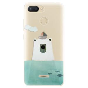 Silikonové odolné pouzdro iSaprio Bear With Boat na mobil Xiaomi Redmi 6