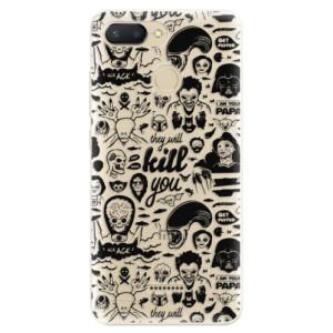 Silikonové odolné pouzdro iSaprio Comics 01 black na mobil Xiaomi Redmi 6