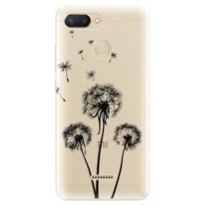Silikonové odolné pouzdro iSaprio Three Dandelions black na mobil Xiaomi Redmi 6