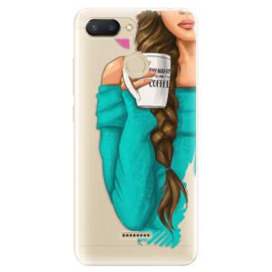 Silikonové odolné pouzdro iSaprio My Coffee and Brunette Girl na mobil Xiaomi Redmi 6