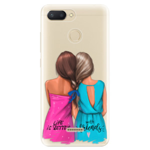 Silikonové odolné pouzdro iSaprio Best Friends na mobil Xiaomi Redmi 6