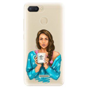 Silikonové odolné pouzdro iSaprio Coffee Now Brunette na mobil Xiaomi Redmi 6