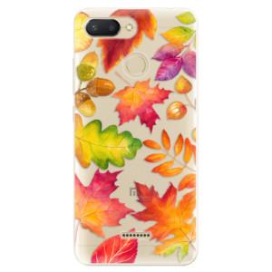 Silikonové odolné pouzdro iSaprio Autumn Leaves 01 na mobil Xiaomi Redmi 6