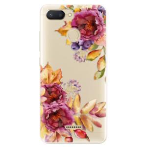 Silikonové odolné pouzdro iSaprio Fall Flowers na mobil Xiaomi Redmi 6