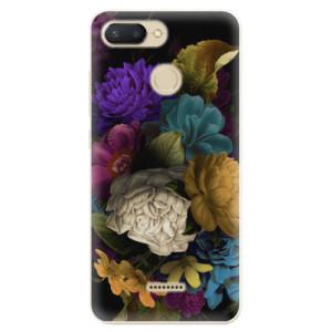 Silikonové odolné pouzdro iSaprio Dark Flowers na mobil Xiaomi Redmi 6