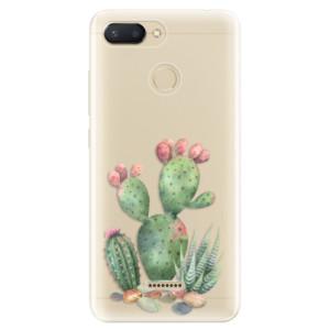 Silikonové odolné pouzdro iSaprio Cacti 01 na mobil Xiaomi Redmi 6