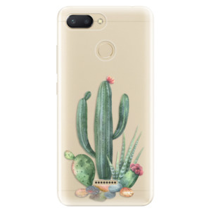 Silikonové odolné pouzdro iSaprio Cacti 02 na mobil Xiaomi Redmi 6