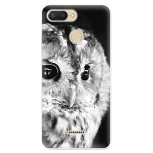 Silikonové odolné pouzdro iSaprio BW Owl na mobil Xiaomi Redmi 6