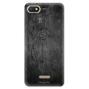 Silikonové odolné pouzdro iSaprio Black Wood 13 na mobil Xiaomi Redmi 6A