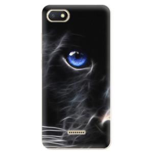 Silikonové odolné pouzdro iSaprio Black Puma na mobil Xiaomi Redmi 6A