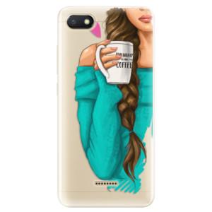 Silikonové odolné pouzdro iSaprio My Coffee and Brunette Girl na mobil Xiaomi Redmi 6A