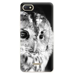 Silikonové odolné pouzdro iSaprio BW Owl na mobil Xiaomi Redmi 6A