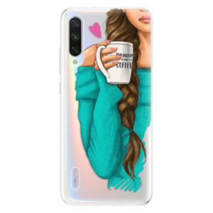 Silikonové odolné pouzdro iSaprio My Coffee and Brunette Girl na mobil Xiaomi Mi A3