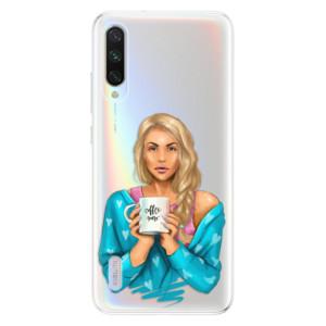 Silikonové odolné pouzdro iSaprio Coffee Now Blond na mobil Xiaomi Mi A3