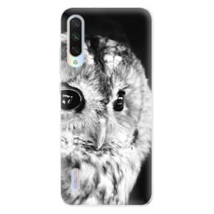 Silikonové odolné pouzdro iSaprio BW Owl na mobil Xiaomi Mi A3