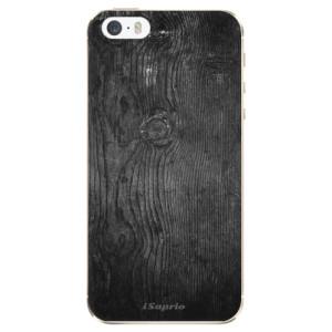 Silikonové odolné pouzdro iSaprio Black Wood 13 na mobil Apple iPhone 5 / 5S / SE