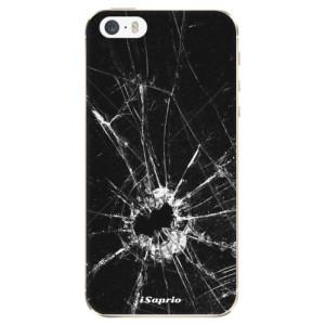Silikonové odolné pouzdro iSaprio Broken Glass 10 na mobil Apple iPhone 5 / 5S / SE