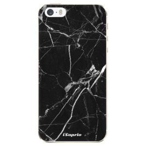 Silikonové odolné pouzdro iSaprio Black Marble 18 na mobil Apple iPhone 5 / 5S / SE