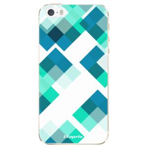 Silikonové odolné pouzdro iSaprio Abstract Squares 11 na mobil Apple iPhone 5 / 5S / SE