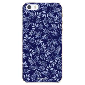 Silikonové odolné pouzdro iSaprio Blue Leaves 05 na mobil Apple iPhone 5 / 5S / SE