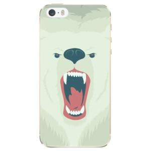 Silikonové odolné pouzdro iSaprio Angry Bear na mobil Apple iPhone 5 / 5S / SE