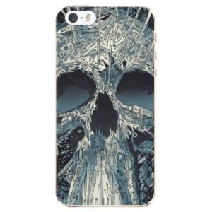 Silikonové odolné pouzdro iSaprio Abstract Skull na mobil Apple iPhone 5 / 5S / SE