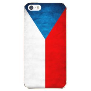 Silikonové odolné pouzdro iSaprio Czech Flag na mobil Apple iPhone 5 / 5S / SE