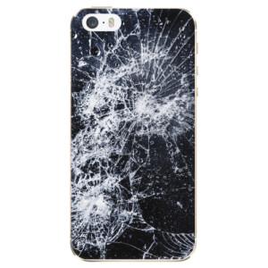 Silikonové odolné pouzdro iSaprio Cracked na mobil Apple iPhone 5 / 5S / SE