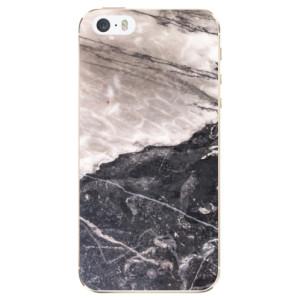 Silikonové odolné pouzdro iSaprio BW Marble na mobil Apple iPhone 5 / 5S / SE