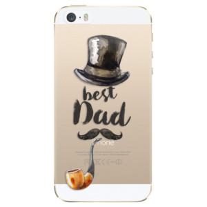 Silikonové odolné pouzdro iSaprio Best Dad na mobil Apple iPhone 5 / 5S / SE