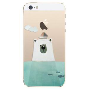 Silikonové odolné pouzdro iSaprio Bear With Boat na mobil Apple iPhone 5 / 5S / SE