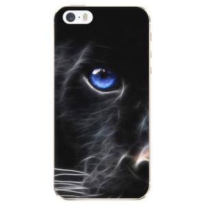 Silikonové odolné pouzdro iSaprio Black Puma na mobil Apple iPhone 5 / 5S / SE