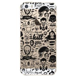Silikonové odolné pouzdro iSaprio Comics 01 black na mobil Apple iPhone 5 / 5S / SE