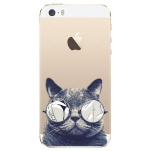Silikonové odolné pouzdro iSaprio Crazy Cat 01 na mobil Apple iPhone 5 / 5S / SE