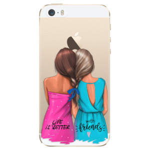 Silikonové odolné pouzdro iSaprio Best Friends na mobil Apple iPhone 5 / 5S / SE