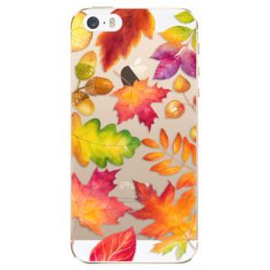 Silikonové odolné pouzdro iSaprio Autumn Leaves 01 na mobil Apple iPhone 5 / 5S / SE