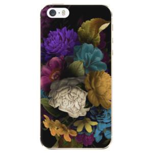 Silikonové odolné pouzdro iSaprio Dark Flowers na mobil Apple iPhone 5 / 5S / SE