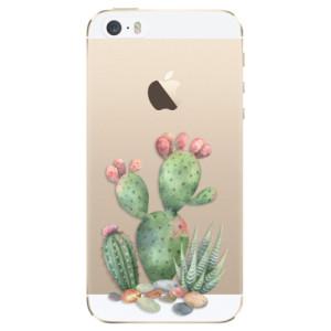 Silikonové odolné pouzdro iSaprio Cacti 01 na mobil Apple iPhone 5 / 5S / SE