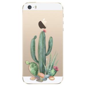 Silikonové odolné pouzdro iSaprio Cacti 02 na mobil Apple iPhone 5 / 5S / SE