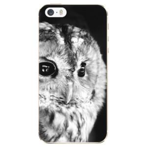Silikonové odolné pouzdro iSaprio BW Owl na mobil Apple iPhone 5 / 5S / SE